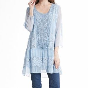 SIMPLY COUTURE | Blue Grey Tunic Top